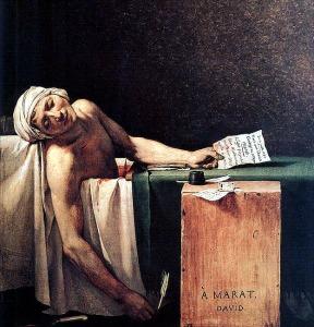"""La Mort de Marat"" (The death of Marat) by Jacques-Louis David,photo from bc.edu"