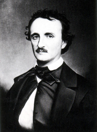 Edgar Allan Poe (1809-1849) American author, poet, editor, literary critic. [image via wikipedia]