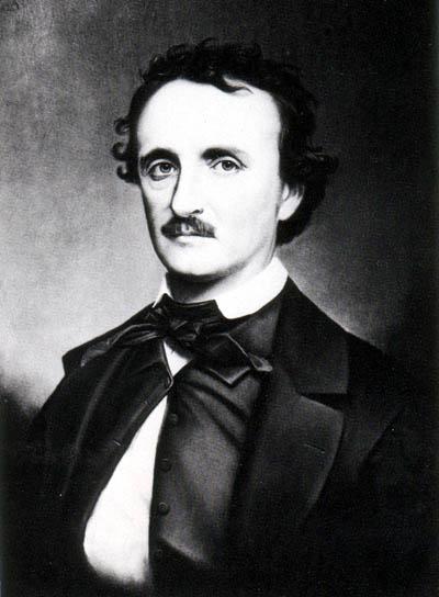 Edgar Allan Poe (1809-1849) American author, poet, editor, literary critic. [image via wikipedia]