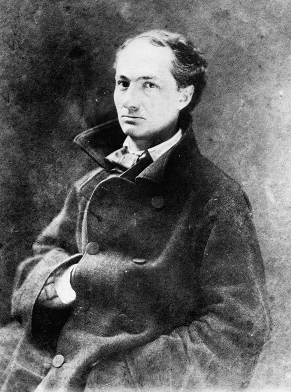 Charles Baudelaire (1821-1867) French poet, essayist, art critic and translator. [Photo by Nadar via Wikipedia]