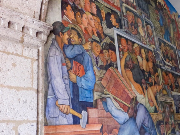 Detail of Diego Rivera mural